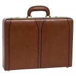 Branded McKlein USA Lawson Brown Leather Attache Case