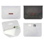 "Custom Imprinted iBank(R) 15"" Felt Sleeve Case with pocket for Laptop Tablet"