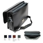 Laurige Two-Gusset Flat Front Briefcase Custom Imprinted