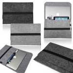"Branded iBank(R) 17"" Felt Sleeve Case for Laptop Tablet"