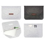 "iBank(R) 13"" Felt Sleeve Case with pocket for Laptop Tablet Logo Printed"