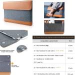 iBank(R) Felt Sleeve Case with pocket for Laptop Tablet Custom Imprinted