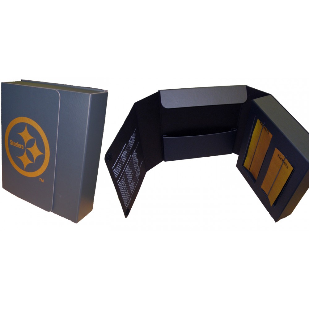 "Maxi Portfolio Briefcase Style w/ 1 Pocket (9.5""x12""x3"") Logo Imprinted"
