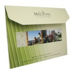 """Imprinted Deluxe Portfolio w/Clipped Flap (10""""x13"""") Printed Full Color 4/0"""