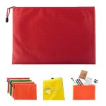 Plastic Zipper Pouch Document Bag Imprinted