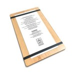 "Branded 9"" x 15"" Solid Alder Menu Board with 2 Bands - 1/2"" thick"