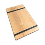 """Branded 9"""" x 13"""" Alder Menu Board with 2 Bands - 1/4"""" thick"""