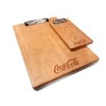 "Custom Printed 9"" x 13"" Solid Alder Menu Board with 1 Clip - 1/2"" thick"