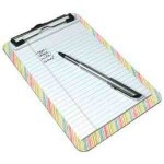 Branded 9x12.5 Clip Board with Flat Clip