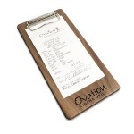 "Personalized 4"" x 8"" Solid Walnut Check Presenter with Clip - 1/2"" thick"