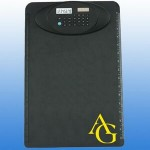 Logo Printed Dual Power Clipboard Calculator