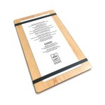 """Promotional 9"""" x 15"""" Alder Menu Board with Clip - 1/4"""" thick"""