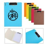 Personalized A4 File Folder with Metal Clips