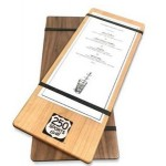 """Personalized 5"""" x 12"""" Alder Menu Boards with Rubber Bands - 1/4"""" thick"""