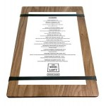 """Personalized 9"""" x 13"""" Solid Walnut Menu Board with 2 Bands -1/2"""" thick"""