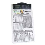 Custom Printed Legal Size Clipboard w/ Dual Power Calculator/ Clock Clip