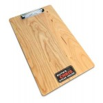 "Branded 9"" x 15"" Solid Alder Menu Board with Clip - 1/2"" thick"
