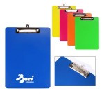 Promotional Memo Size Plastic Clipboard with Metal Clip