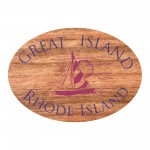 "Branded Wood Decals | 3""x2.75 Oval 