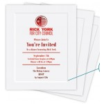 Card & Foldover Spot Color & Foil Stamped Announcements (4 & 5 Baronial) Custom Imprinted