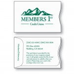 Logo Printed Paper 24 Sub Wove Card Sleeve - White