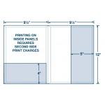 """Conformer Large Presentation Expansion Folder Vertical & Regular Pocket (9 1/2""""x12"""") Custom Imprinted"""