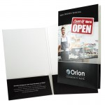 "Legal Presentation Folder w/ Two 1/4"" Capacity Box Pockets (9""x14 1/2"") 4/0 Custom Imprinted"