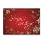 Season's Greetings Snowflakes Economy Holiday Card Logo Printed