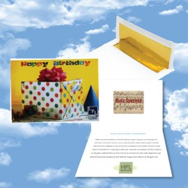 Personalized Cloud Nine Birthday Music Download Greeting Card / Happy Birthday & Party Time Albums