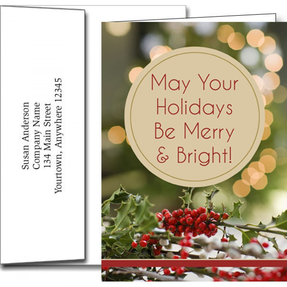 Holiday Greeting Cards w/Imprinted Envelopes Branded