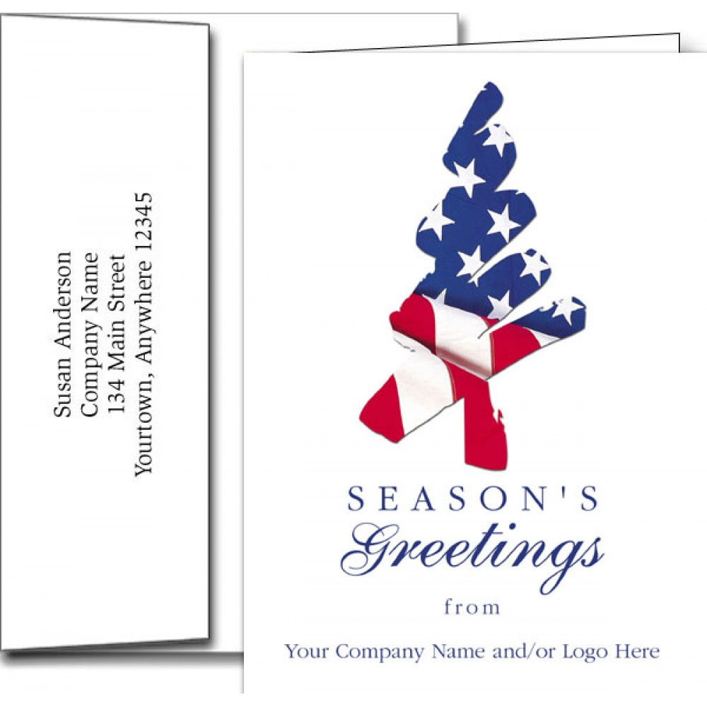 "Logo Printed Logo Holiday Greeting Cards w/Imprinted Envelopes (5""x7"")"