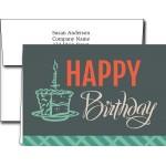 Birthday Greeting Cards w/Imprinted Envelopes Branded