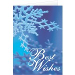 Personalized Best Wishes Holiday Greeting Card