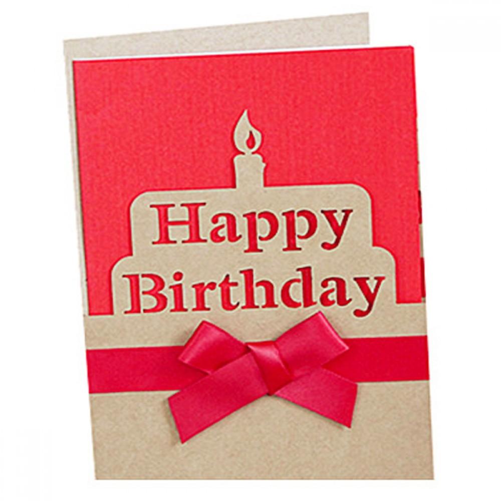 Kraft Paper Happy Birthday Greeting Cards Logo Printed