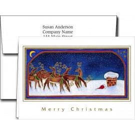 Holiday Greeting Cards w/Imprinted Foil Lined Envelopes Custom Imprinted