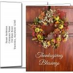 Thanksgiving Greeting Cards w/Imprinted Envelopes Custom Imprinted