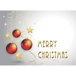 Personalized Grey w/Gold Ornaments Greeting Card