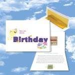 Logo Printed Birthday Card / Birthday Bee - Free Song Download