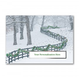 Decorated FenceLine Greeting Die-Cut Card Branded