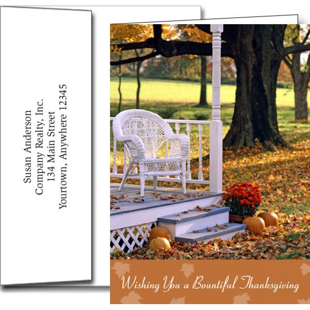 Personalized Thanksgiving Greeting Cards w/Imprinted Envelopes