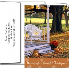 Custom Imprinted Thanksgiving Greeting Cards w/Imprinted Envelopes