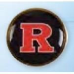 """Custom Imprinted Circle Printed Stock Lapel Pin (1 1/8"""")"""