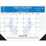 Branded Standard 1 Color Desk Pad Calendar