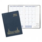 Monthly Desk Refillable Appointment Planner w/ Continental Vinyl Cover Custom Imprinted