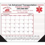 Logo Printed Desk Pad Calendar w/12 Month View Bottom