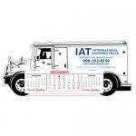 Armored Truck Full Color Die-Cut Desk Calendar, Heavy Weight Custom Imprinted