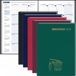 2020 Ruled Monthly Format Stitched To Cover Desk Planner Logo Printed