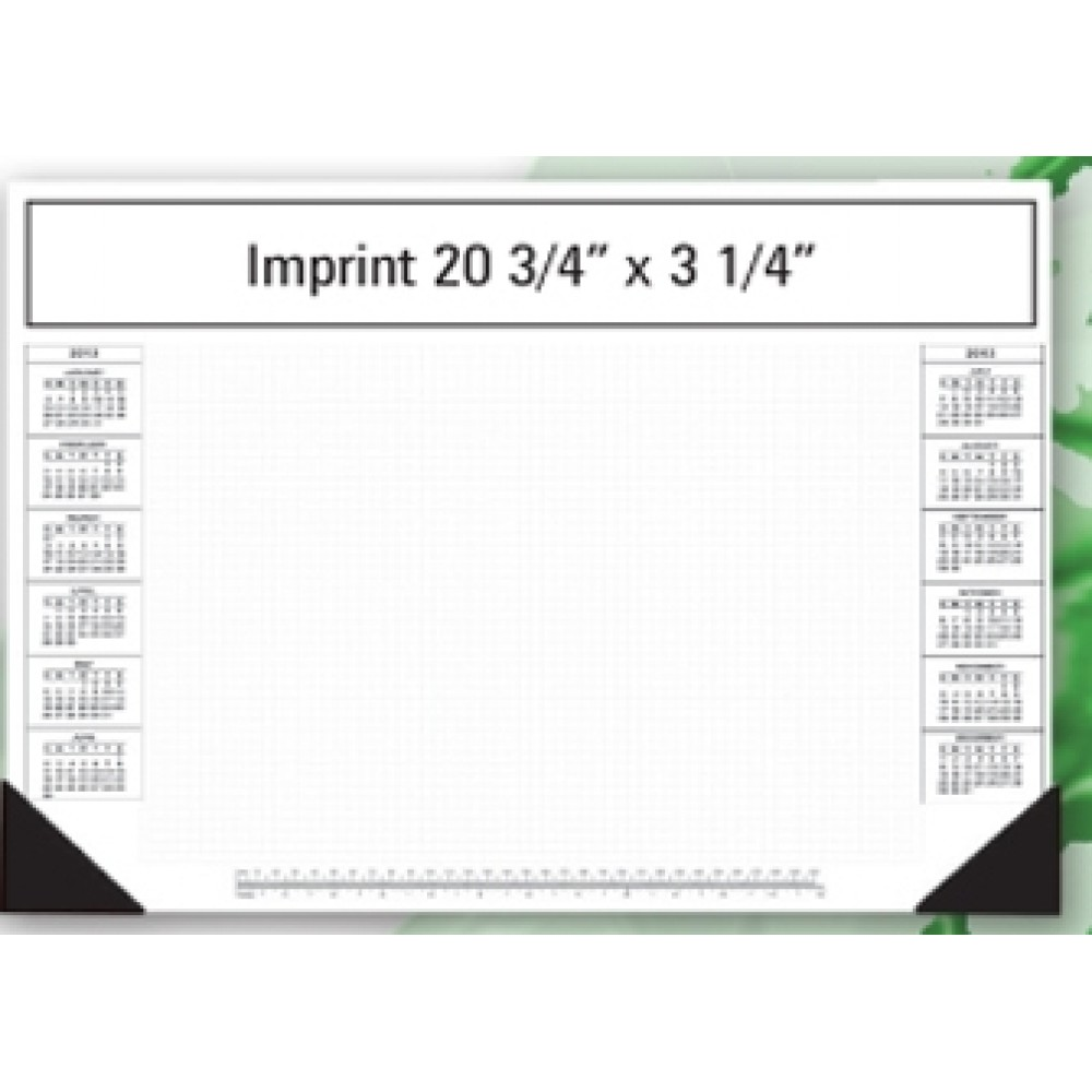 "25 Sheet Freestyle Desk Calendar Pads w/ 20 3/4""x3 1/4"" Top Imprint & Bottom Custom Imprinted"