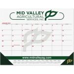 "Red & Black Calendar Desk Pads w/Two Color Imprint (21 3/4"" x 17"") Custom Imprinted"