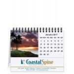 "American Coasts Tent Desk Calendar (5 13/16""x4 1/2"") Branded"